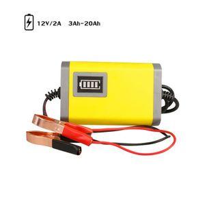 CHARGEUR DE BATTERIE Regisi Chargeur de batterie de voiture 12V 2A comp