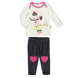 Ensemble de vêtements Pyjama bébé 2 pièces velours Lovesnow - Taille - 3 3203ce3377b