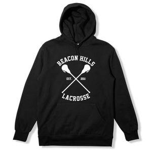 SWEATSHIRT Hills Beacon Men Hoodie noir de Teen Wolf Inspired