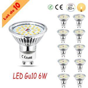 AMPOULE - LED Wowatt 10x Gu10 Ampoule Spot Led Blanc Chaud Led A