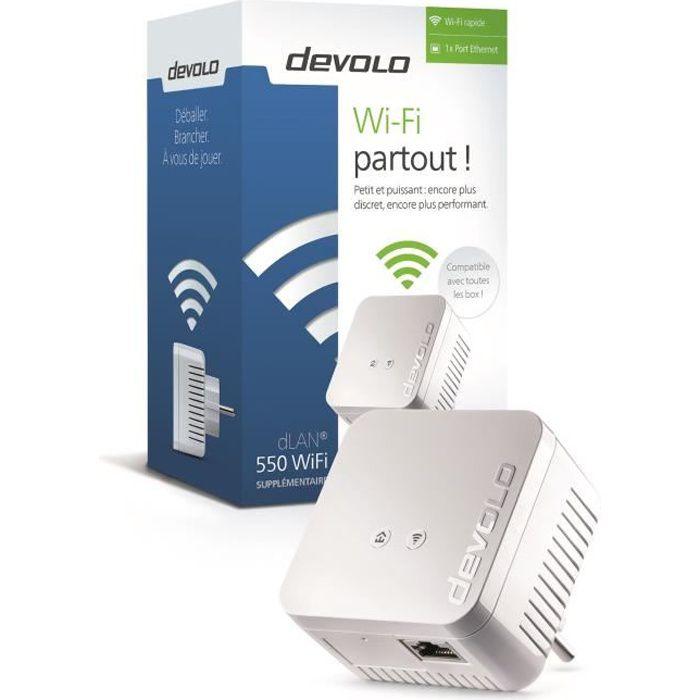DEVOLO CPL Wi-Fi 550 Mbit/s Modèle 9625 dLAN 550 WiFi