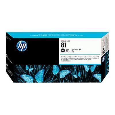 HP Tête d'impression + nettoyant 81 - Pack de 1 - Noir
