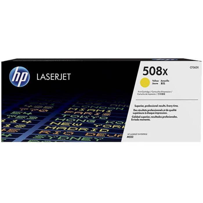 HP Cartouche toner 508X - Jaune - 9.500 pages