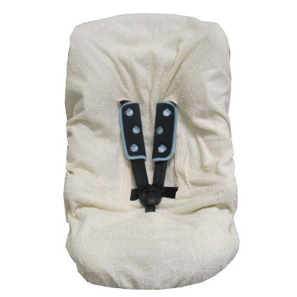 Housse en tissu éponge pour sièges auto Groupe 1 / 2 / 3 - Équipée de 5 passages de sangles - Adaptable aux sièges auto avec têtière - Fabriquée en France - Certifiée ŒKO-TEX - Mixte - Dès la naissance - Livré à l'unitéHOUSSE SIEGE-AUTO - HOUSSE NACELLE -