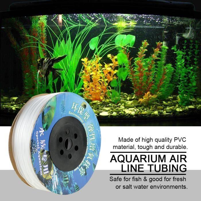 100m Tuyau De Ligne D'air Pvc Pour Pompe À Air D'aquarium