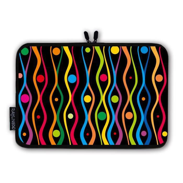 cee1af5a1f HOUSSE PC PORTABLE Lignes colorées Sacoche Ordinateur portable/Tablet