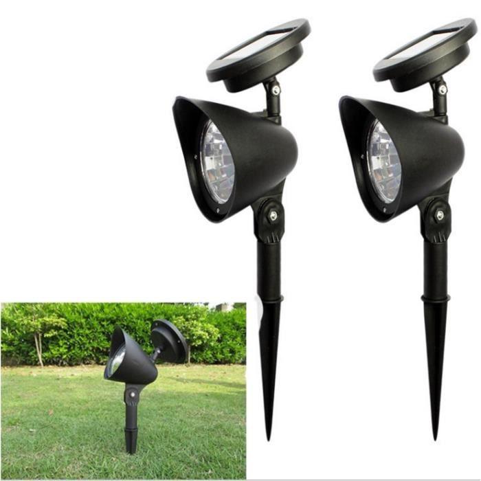 Mega-Deal - Double Eclairage Exterieur LED - Lampe Solaire Jardin ...