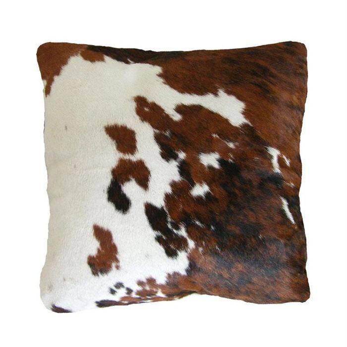 Coussin en peau de vache Normande   Achat / Vente coussin   Cdiscount