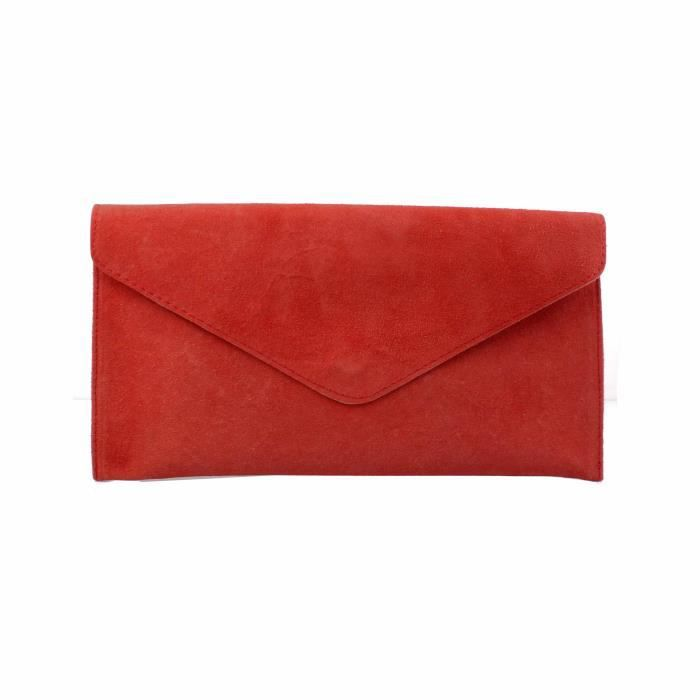 Accessoryo - enveloppe orange en daim sac de sac de soirée des femmes TrljFK