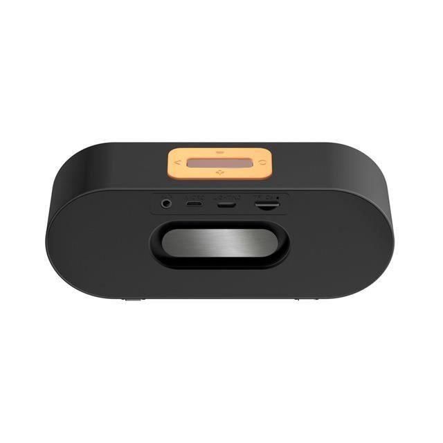 F1 Noir Haut Parleur Microphone Bluetooth Sans Fil Stéréo Amplificateur Pour Téléphone Mobile