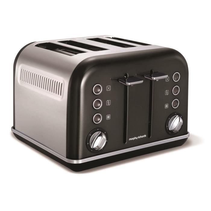 Grille-pain Accents Refresh 4 tranches - noir - M242018EE Noir ...