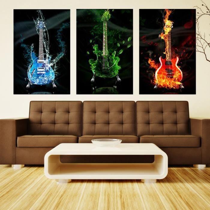 Tableau guitare achat vente tableau guitare pas cher for Cdiscount decoration