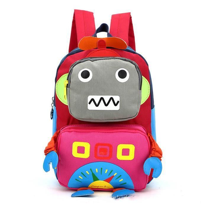 20*27*10cm Sac à Dos Robot Enfant Garçon Fille Cartable Maternelle Cartoon Sac Ecole Créative