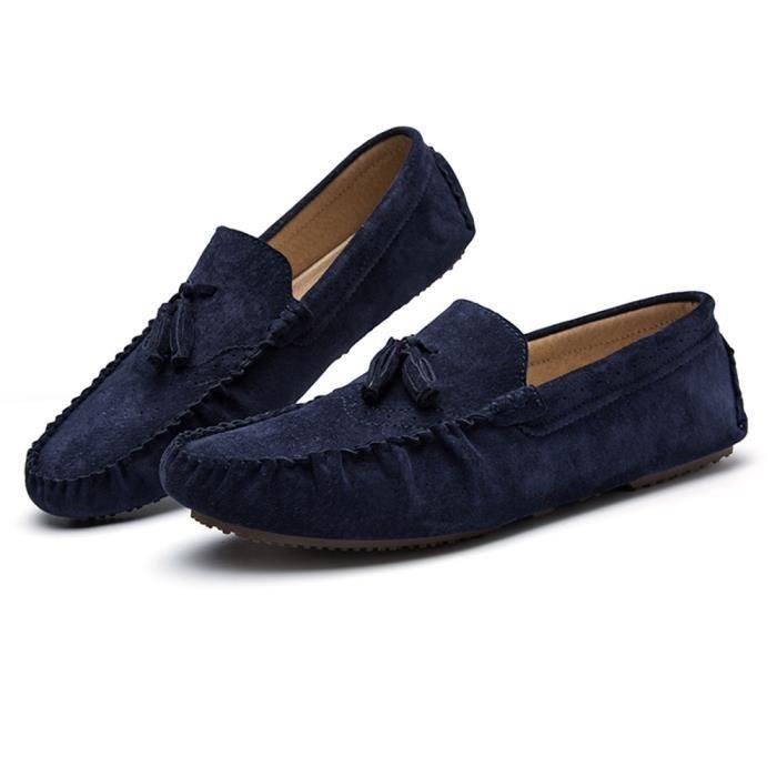 Hommes Luxe noir Poids Antidérapant Moccasins De Grande Confortable Bleu gris Classique Marque Chaussures Léger Durable fwZxAFqF