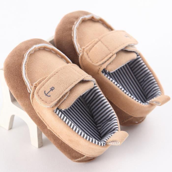 Marron-Hiver Bébé Nouveau Chaussures Loisirs Fond mou Velcro Chaussures de bébé en bas âge