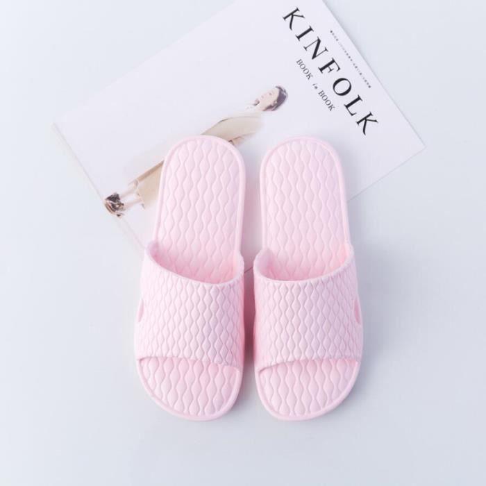 Pantoufles De Maison Salle De Bain Sandales De Plage Chaussons De Douche Chaussures De Piscine Unisexe Antidérapant Soft Légère