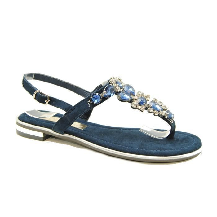 Femme - SANDALE PLAT - Xti - XTI 30661 - Azul marino - (37)