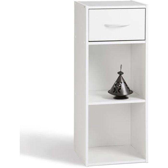Petit Meuble De Rangement Blanc.Meuble De Rangement Blanc En Panneaux De Particules 31 1x29 5x80cm