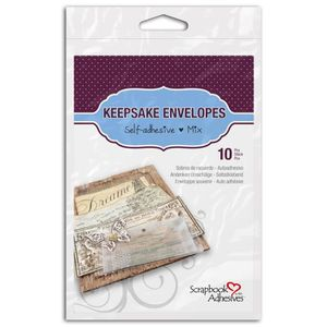 Scrapbook Adhesives? by 3 L Lot de 10 enveloppes transparentes