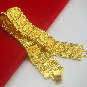 BRACELET - GOURMETTE Bracelet en forme de dragon gravé de 23 mm de larg
