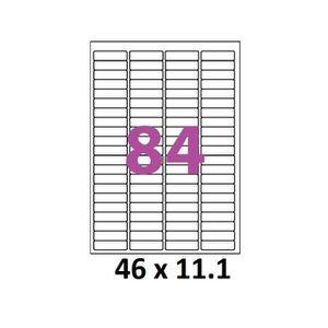 Étiquette classement 1000 planches A4 de 84 étiquettes bureautique 46 x
