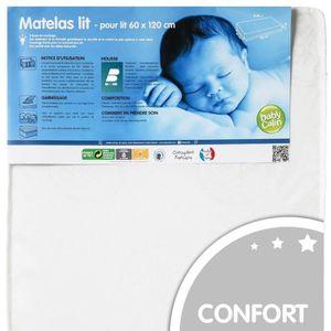 MATELAS BÉBÉ BABYCALIN Matelas Bébé 60x120 Blanc