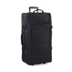 SAC DE VOYAGE Grande valise à roulettes double étage black TU