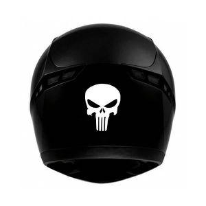 DÉCORATION VÉHICULE Crâne skull casque moto - autocollant sticker  Cou