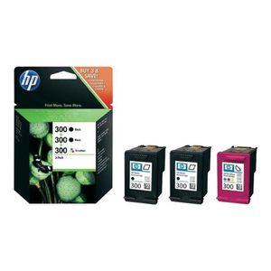 CARTOUCHE IMPRIMANTE HP 300 Pack de 3 4 ml noir, dye-based color (cyan,