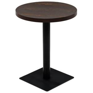 TABLE BASSE Haute qualité Table de bistro MDF et acier Rond 60