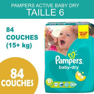 COUCHE PAMPERS ACTIVE BABY DRY - TAILLE 6  84  COUCHES (1