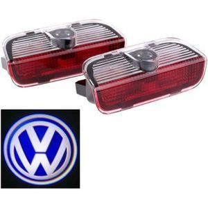 PHARES - OPTIQUES 2pcs porte de voiture de LED Voyant bienvenue Logo