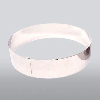 PATISSE Cercle à pâtisserie extensible - Ø 18-30 x H - 6 cm - Gris argenté