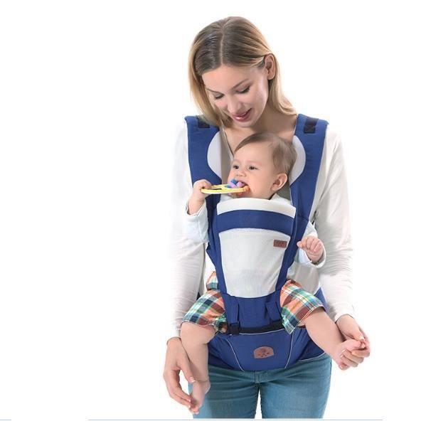 688db1e189434 BLEU Porte-bébé chaise pour bébé Fonctionnel Max. 20kg charge confort de  bébé maman Adjustable haute qualité
