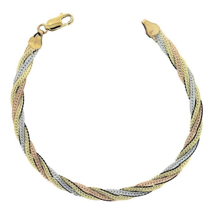 Bracelet - Femme - Or Jaune 375-1000 (9 Cts) 4.62 Gr QE5HN