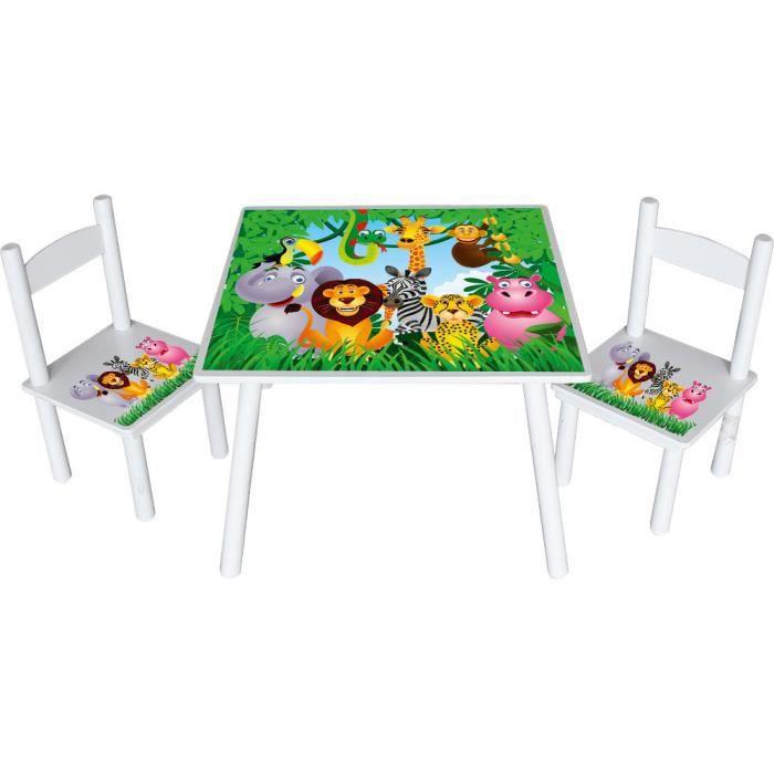 table et chaises animaux de la jungle achat vente table et chaise 5907799341626 cdiscount. Black Bedroom Furniture Sets. Home Design Ideas