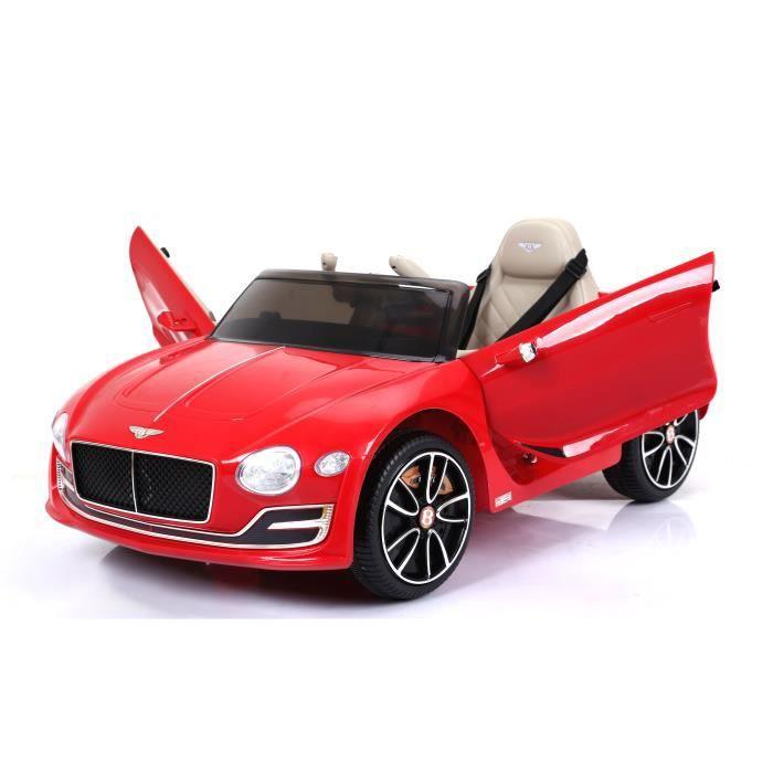 Vehicule Electrique Pour Enfants Bentley Exp12 Rouge Peinture Original Licence 2x Moteur Batterie 12 V Telecommande 2 4 Ghz