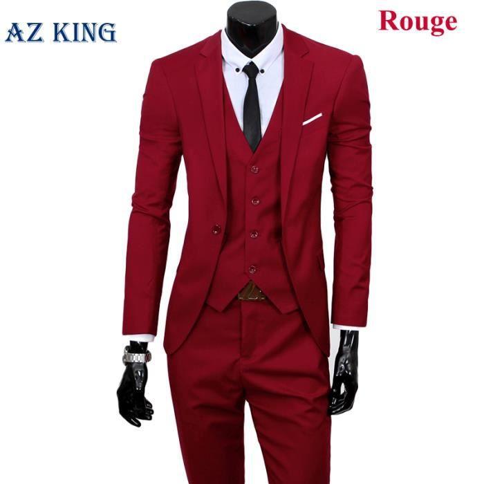 Costume homme un trois-pièces complet La coupe ... Rouge - Achat ... 819e994df78