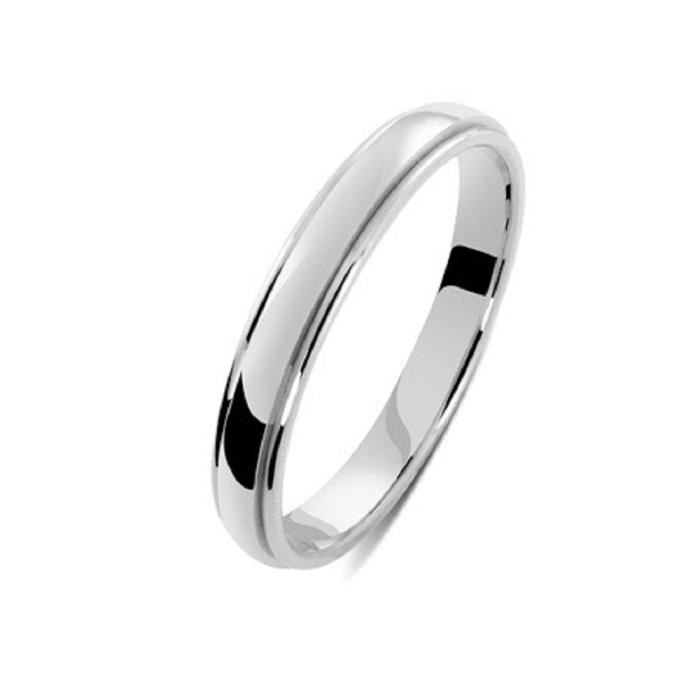 ALLIANCE OR BLANC 18 Cts 3,2mm