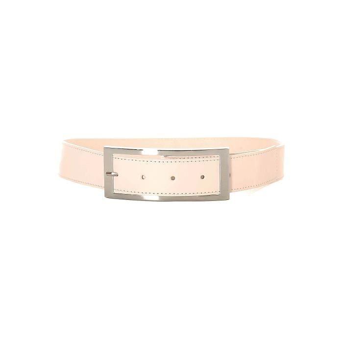 567454f10809 Magnifique ceinture blanc avec boucle métallisé. 5090 Blanc Blanc ...