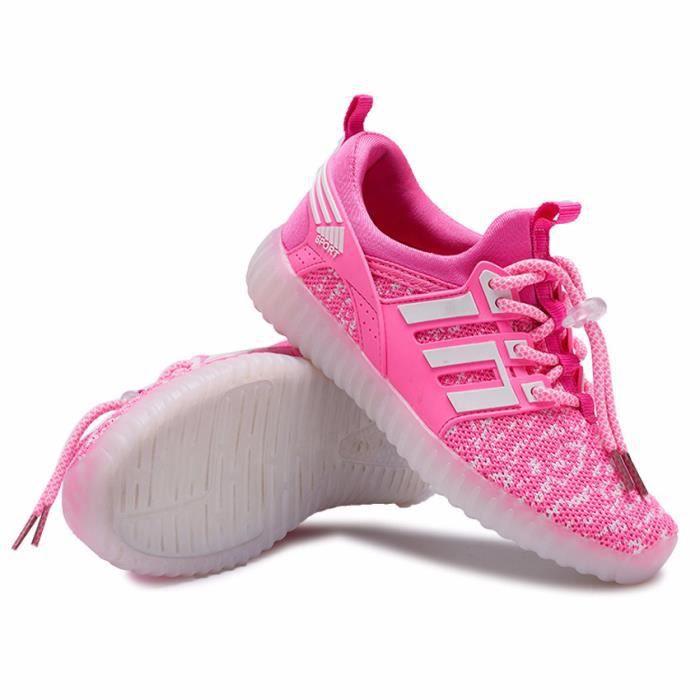 chaussures garçons 37 lumineuse à taille 25 Sneakers Sports Charge Baskets chaussure enfants lacets légère LED q168w8E