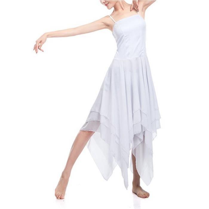Robe de danse Femme Adulte justaucorps ballet mousseline Sans manches df87f05776b3