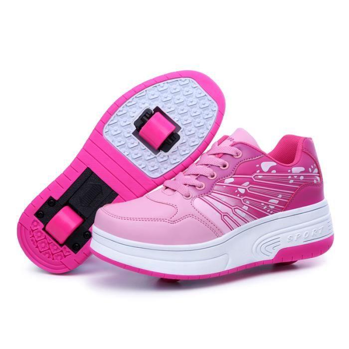d7e42672d1826 Mode Baskets Enfants Chaussures à Roulettes Garons Filles Sneakers ...