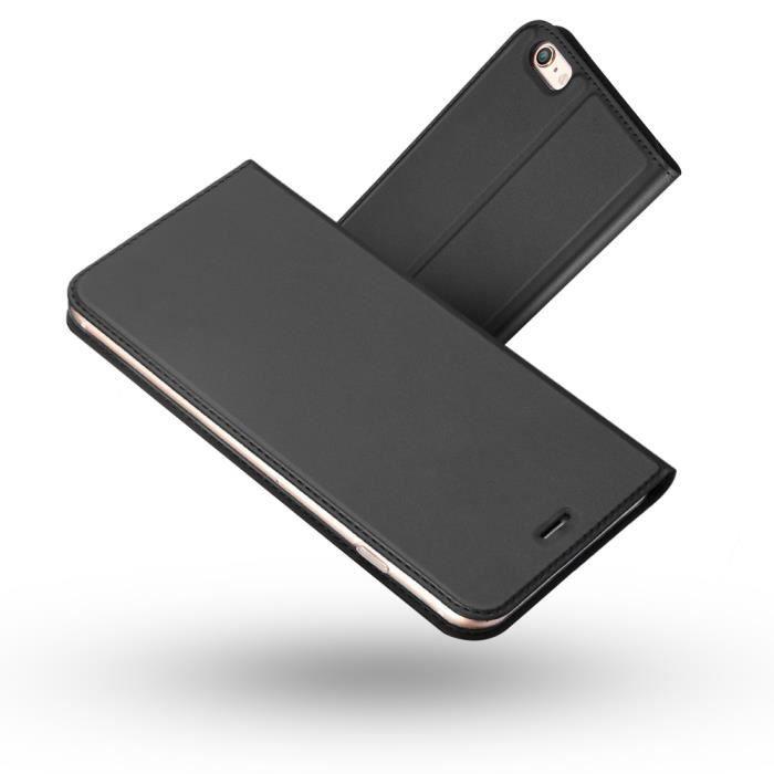 coque iphone 6 clapet noir