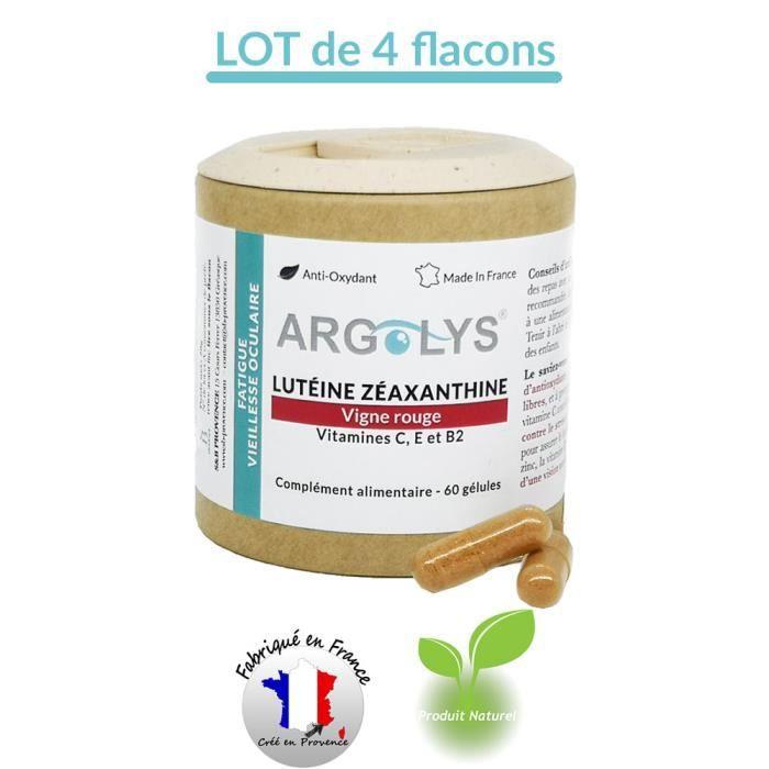 CONFORT OCCULAIRE Argolys® - Lutéine, Zéaxanthine, Vigne rouge, bêta