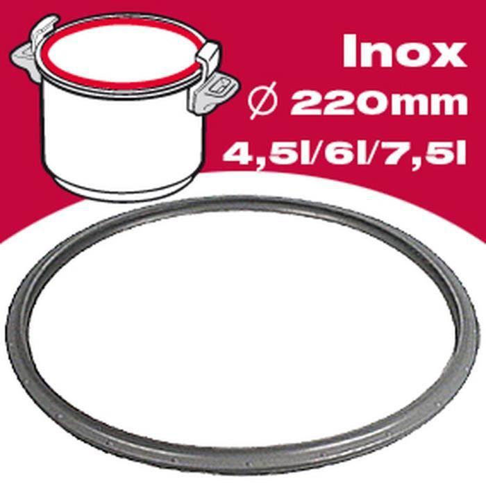 SEB Joint autocuiseur inox 790362 4,5-6L Ø24cm gris - Achat ...