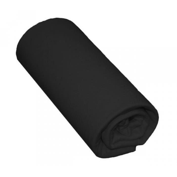 drap housse noir Drap Housse Bébé 100% Coton Noir 60x140   Bonne…   Achat / Vente  drap housse noir