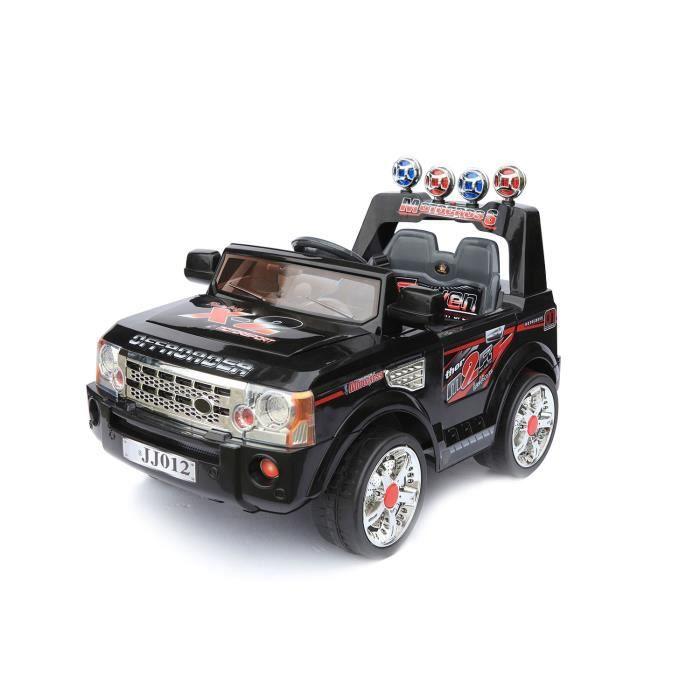 voiture lectrique 6v 4x4 lectrique noire achat vente voiture enfant cdiscount. Black Bedroom Furniture Sets. Home Design Ideas