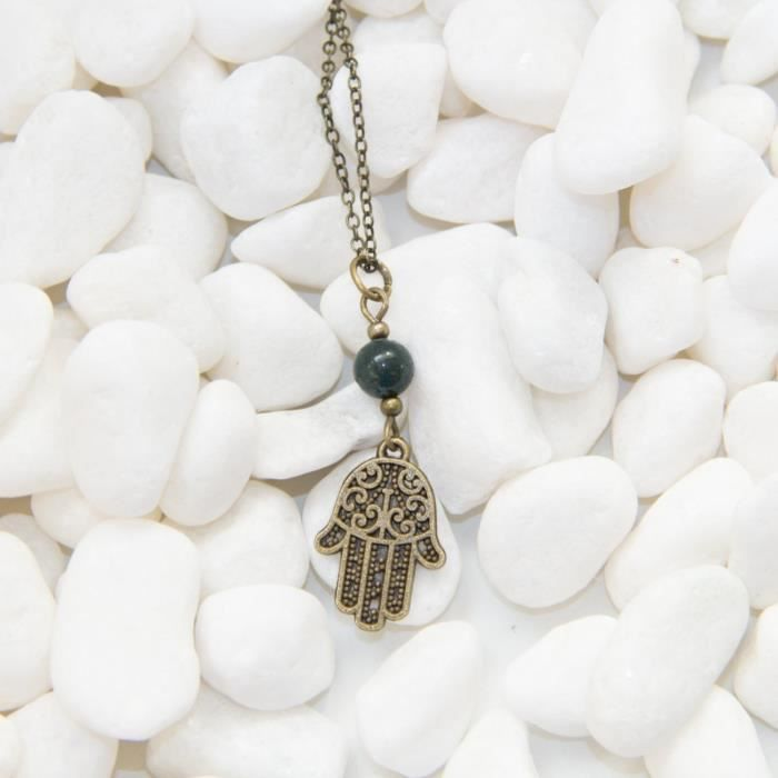 Craze concepteur grenat et perles enfumés quartz collier en argent sterling de 16  YLMEY
