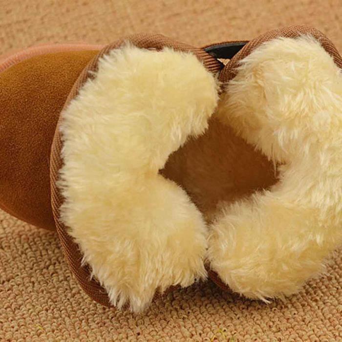 Mode d'hiver de bébé de modèle de botte de coton de bottes chaudes de neige kaki